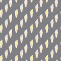 Ice cream cones seamless pattern. Vector hand drawn background. Fabric design