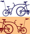 Ice cream cones vector trailer cycle bicycle attachment co pilot bicycle Stock Photo