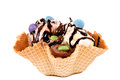 Ice cream cornet Stock Images