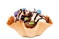 Ice cream cornet Stock Images