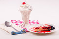 Ice cream desserts Royalty Free Stock Image