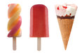 Ice cream and frozen ice lollies set Royalty Free Stock Photo