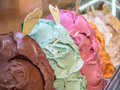 Ice cream gelato in a shop in italy Stock Photo