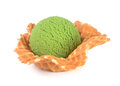 Ice cream green tea ice cream on a background Royalty Free Stock Image