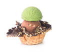 Ice cream green tea ice cream on a background Stock Images