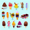 Ice cream icons Royalty Free Stock Photos