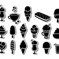 Ice cream icons Stock Photo