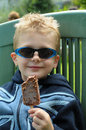 Ice-Cream Kid Royalty Free Stock Photo
