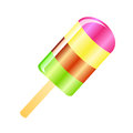 Ice cream lolly background multicolor isolated on the white phone Stock Photo