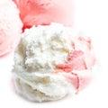 Ice cream macro beautiful ice cream balls close up macro Stock Images
