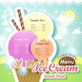 Ice cream menu cover Stock Photos