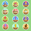 Ice cream menu flat icon the illustration Royalty Free Stock Photos
