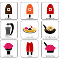 Ice cream parlor icons an image of Royalty Free Stock Photos