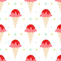 Ice cream pattern Royalty Free Stock Photo