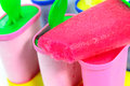 Ice cream pops on the white Royalty Free Stock Photos