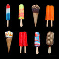 Ice Cream and Popsicles (HUGE FILE) Royalty Free Stock Photography
