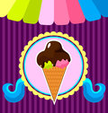 Ice cream poster vector illustration Stock Image