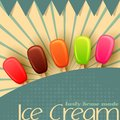 Ice cream poster vector illustration of colorful lolly design Royalty Free Stock Photos