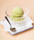 Ice cream scoop. ice cream on the background. Stock Photography