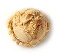 Ice cream scoop Royalty Free Stock Photo