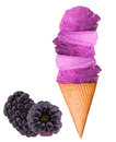 Ice cream scoops on cone Royalty Free Stock Photo