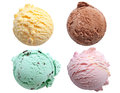 Ice cream scoops flavors Royalty Free Stock Photo