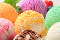 Ice cream scoops various flavors Royalty Free Stock Photography
