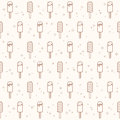 Ice cream seamless pattern.