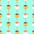 Ice cream seamless pattern sweet