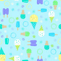 Ice Cream Seamless Repeat Pattern Stock Photo