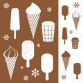 Ice cream set vector illustration eps Stock Image