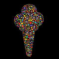 Ice cream shape Royalty Free Stock Images