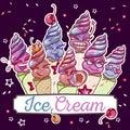 Ice cream smiles set