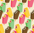 Ice cream song colorful seamless pattern Royalty Free Stock Photo