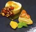 Ice cream, sorbet and pastry dessert Royalty Free Stock Photo