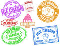 Ice cream stamps Stock Photos