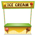 An ice cream stand illustration of on a white background Stock Images