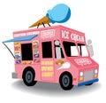 Ice cream truck Royalty Free Stock Photo