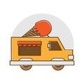 Ice cream truck logo template