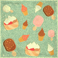 Ice Cream Vintage Background Royalty Free Stock Image