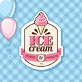 Ice cream vintage poster design Stock Images