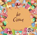 Ice creams collection Royalty Free Stock Photo