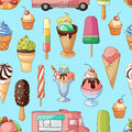 Ice creams collection pattern Royalty Free Stock Photo