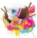 Ice creams color design