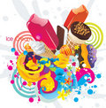 Ice creams color  design Royalty Free Stock Photos