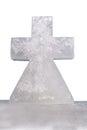 Ice cross on white Royalty Free Stock Photo