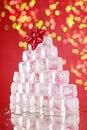 Ice cube christmas tree Royalty Free Stock Photo