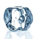 Ice cube close up isolated on white background Royalty Free Stock Photos