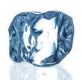 Ice cube close up isolated on white background Stock Image
