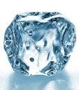 Ice cube close up isolated on white background Stock Photo